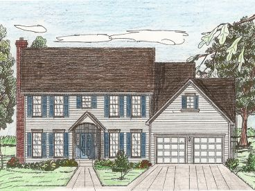 Colonial House Plan, 009H-0054