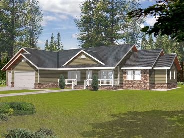 Ranch Home Design, 012H-0078