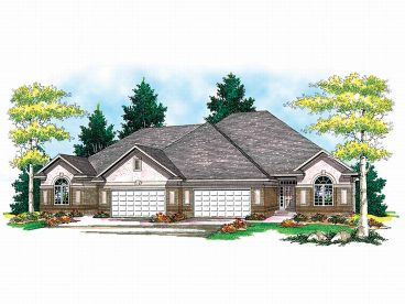 Duplex Home Plan, 020M-0006