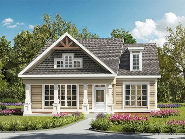 Small Craftsman House Plan, 019H-0192