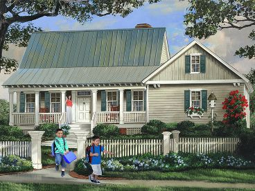 Country Home Plan, 063H-0080