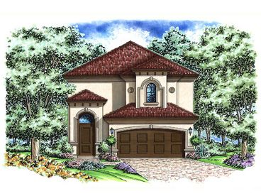 Narrow Lot House Plan, 037H-0185