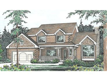 2-Story Log House Plan, 031L-0007