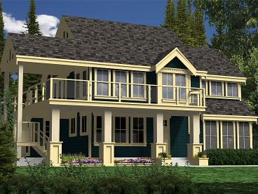 Waterfront Home Plan, 010H-0015