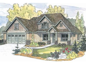 Craftsman Home Plan, 051H-0128