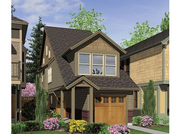 Zero Lot Line House Plan, 034H-0160