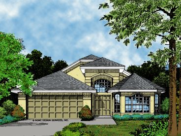 Florida Style Home, 043H-0052