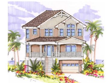 Beach House Plan, 041H-0094