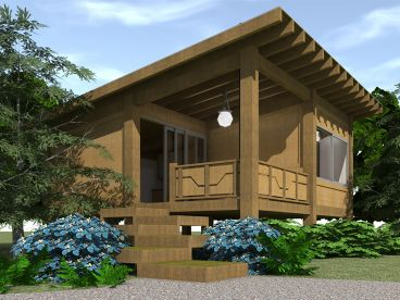 Cabin House Plan, 052H-0078