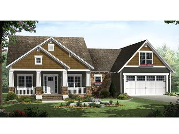 Craftsman Home Design, 001H-0139