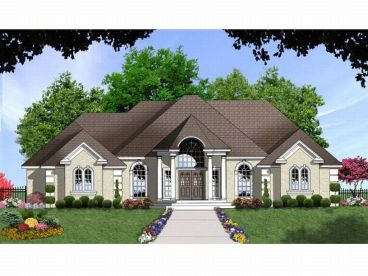 Sunbelt House Design, 015H-0084