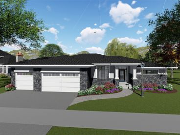 Contemporary House Plan, 020H-0446