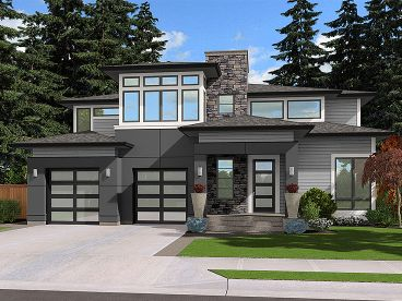 Contemporary House Plan, 035H-0131