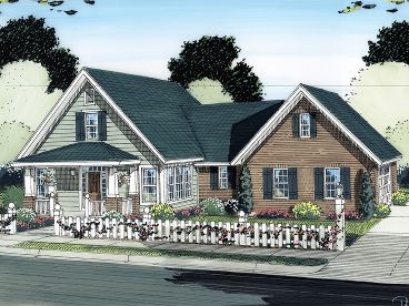 Bungalow House Plan, 059H-0125