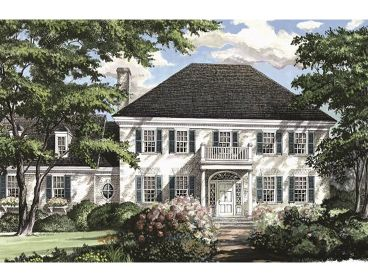 Colonial House Plan, 063H-0114