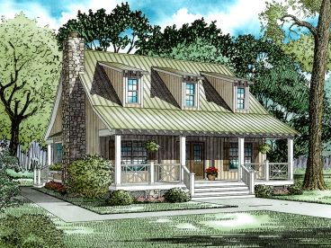 Rustic House Plan, 025H-0083