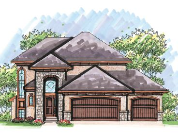 European House Plan, 020H-0207