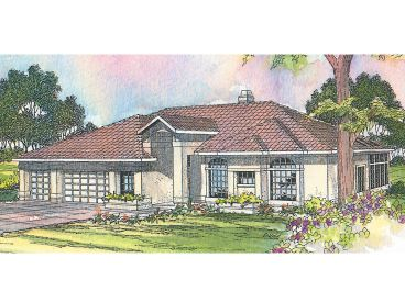 Sunbelt Home Plan, 051H-0017