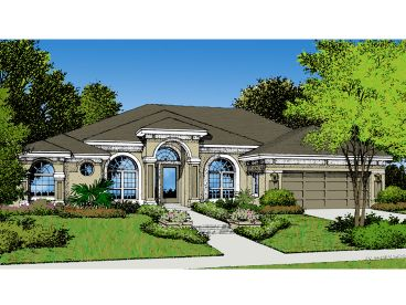 Mediterranean Home Plan, 043H-0093