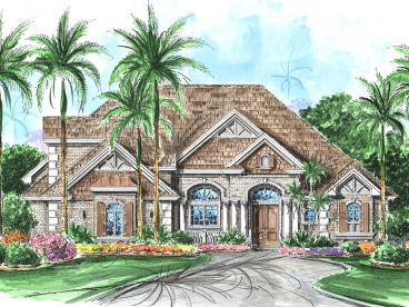 European House Plan, 037H-0160