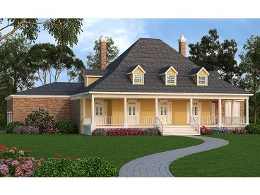 Southern Luxury Home, 021H-0237