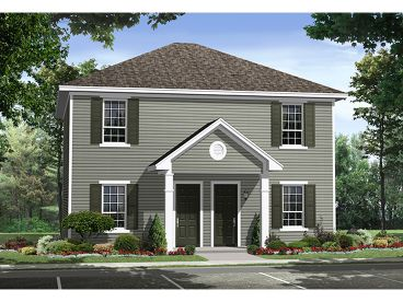 Two-Story Duplex Plan, 001M-0005