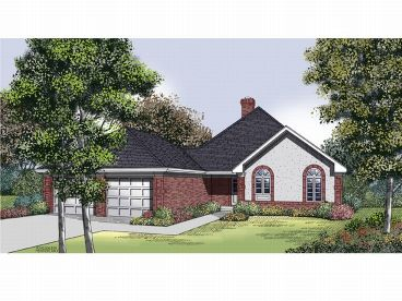 Ranch House Plan, 021H-0096