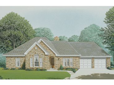 Traditional House Plan, 054H-0110
