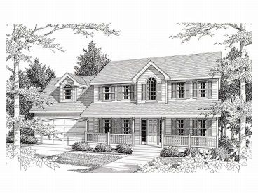 Two-Story House Plan, 018H-0013
