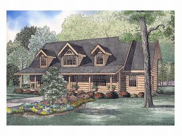 2-Story Log House Plan, 025L-0035