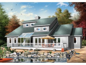 Waterfront Home Plan, 027H-0024