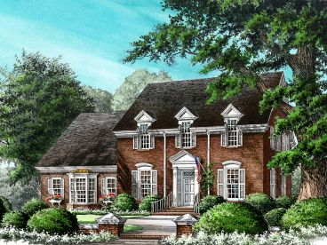Coloinal Home Plan, 063H-0096