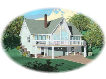 Waterfront House Plan, 006H-0030