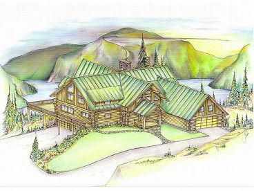 Log House Plan, 012L-0004