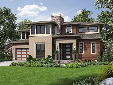 Contemporary Home Plan, 035H-0119
