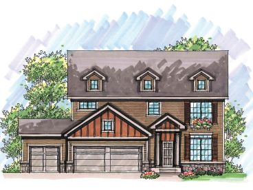 Cape Cod House Plan, 020H-0214