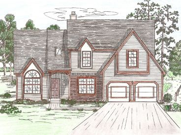 Two-Story Home Design, 009H-0048