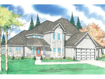 2-Story House Plan, 009H-0034