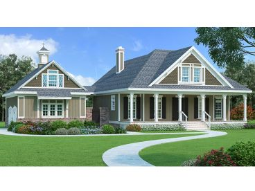 Two-Story House Plan, 021H-0255