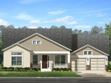 Ranch Home Design, 064H-0077