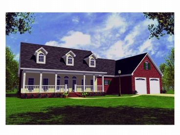 Country Home Plan, 001H-0055