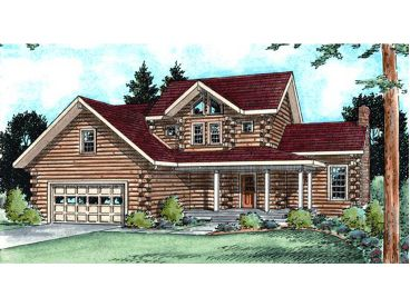 Log House Plan, 031H-0016