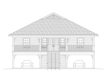 Coastal House Plan, 006H-0168