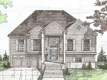 Split-Level Home Plan, 009H-0033