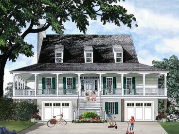 Coastal House Plan, 063H-0043