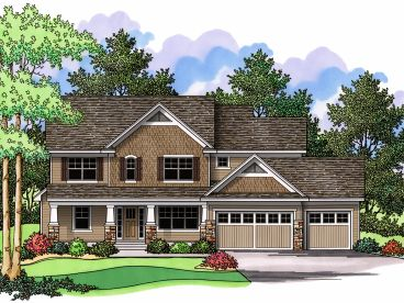 Craftsman House Plan, 023H-0125