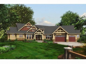 Craftsman Home Plan, 035H-0047