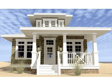 Narrow Beach Home Plan, 052H-0108