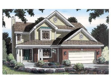 2-Story Traditional Home, 047H-0013