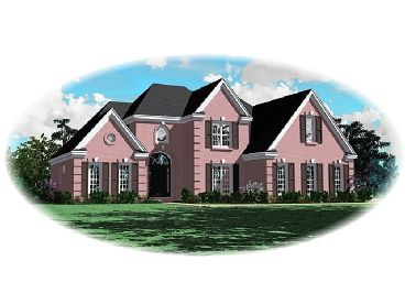 2-Story Home Plan, 006H-0050